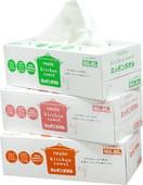 NEPIA Полотенца для кухни, бумажные, двухслойные, 3 пачки по 80 шт.