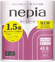 NEPIA Туалетная бумага мягкая, двухслойная, с ароматом цветущей сакуры, 8 рулонов по 45 метров.