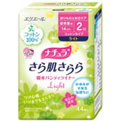Daio paper Japan «Elis Cotton» - Ежедневные женские гигиенические прокладки, 14 см., 44 шт.