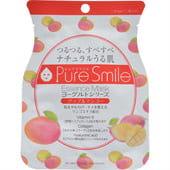 """Sun Smile """"Pure Smile"""" """"Yogurt mask"""" Смягчающая маска-салффетка для лица на йогуртовой основе с экстрактом яблока и манго."""
