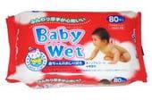 """SHOWA SIKO """"Easy care"""" Влажные салфетки для ухода за нежной кожей тела малышей с экстрактом алоэ вера, 80 шт. в упаковке."""