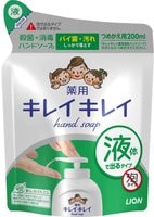 """LION Жидкое антибактериальное мыло для рук с ароматом цитрусов """"KireiKirei"""", сменная упаковка, 200 мл."""