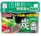 """KOKUBO """"Deodorant SUMI-BAN"""" Дезодорант-поглотитель неприятных запахов для овощного отделения холодильника с древесным углём, 150 гр."""