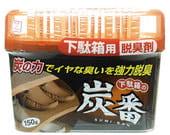 """KOKUBO """"Deodorant SUMI-BAN"""" Дезодорант-поглотитель неприятных запахов для обувных шкафов с древесным углём, 150 гр."""