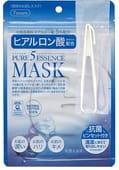 """Japan Gals """"5 Pure Essence"""" Маска для лица с гиалуроновой кислотой, 7 шт. в упаковке."""