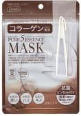 JAPAN GALS «5 Pure Essence» Маска для лица с коллагеном, 7 шт. в упаковке.