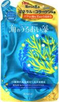 """KRACIE """"Umi No Uruoi Sou"""" Шампунь-ополаскиватель (2 в 1) увлажняющий с экстрактами морских водорослей и минералами, сменная упаковка, 400 мл."""