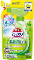 KAO «Magiclean Bath» Очищающая спрей-пенка для ванной комнаты с ароматом свежих трав, запасной блок 330 мл.