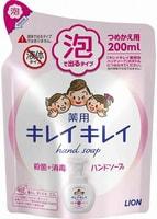 """LION LION """"KireiKirei"""" Пенное антибактериальное мыло для рук - для всей семьи, с ароматом цитрусов, сменная упаковка, 200 мл."""