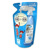 LION «Look kirei mist» Антибактериальное чистящее средство для туалетной комнаты с ионами серебра, аромат свежести, сменная упаковка, 220 мл.