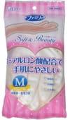 """ST """"Family"""" """"Soft &Beauty"""" Перчатки для бытовых и хозяйственных нужд (винил, пропитаны гиалуроновой кислотой, средней толщины), размер M, перламутровые."""