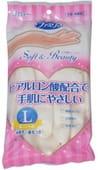 """ST """"Family"""" """"Soft &Beauty"""" Перчатки для бытовых и хозяйственных нужд (винил, пропитаны гиалуроновой кислотой, средней толщины), размер L, перламутровые."""