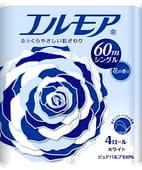 """Kami Shodji ELLEMOI"""" Ароматизированная однослойная туалетная бумага, 4 рулона по 60 метров. Аромат полевых цветов."""
