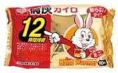 """KIRIBAI Одноразовые грелки для рук """"Hand Warmer"""", размер мини, 9,0 х 5,5 см., 12 шт. в упаковке."""
