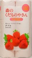 """FUJIEDA """"Fujieda Seishi"""" Туалетная бумага двухслойная, с ароматом клубники, 12 рулонов по 25 метров."""