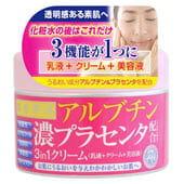 """Cosmetex Roland """"Biyo Gen'eki"""" Крем для лица 3 в 1 улучшающий цвет кожи с арбутином и экстрактом плаценты, 180 гр."""