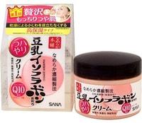 """Sana """"Soy Milk Haritsuya Cream"""" Увлажняющий крем, с изофлавонами сои и капсулированным коэнзимом Q10, 50 г."""