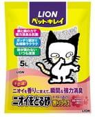 LION «Pet Kirei» - Наполнитель для кошачьего туалета с серебром с ароматом цветочного мыла, 5 л.