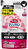 """KAO Спрей для чистки и дизенфекции туалета """"Toilet Magiclean"""", с ароматом розы, сменная упаковка, 330 мл."""