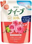 KRACIE Мыло жидкое для тела «Naive – аромат розы», сменная упаковка, 400 мл.