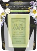 KRACIE «Pure Savon – аромат цветов» Мыло жидкое для тела, сменная упаковка, 250 мл.