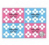 """Nepia """"Nepi Nepi"""" Бумажные двухслойные карманные платочки, 16 упаковок по 10 шт."""