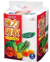 "Kami Shodji ""Ellemoi"" Бумажные полотенца для кухни, 4 рулона по 50 отрезков."