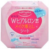 KOSE Cosmeport «Softymo» Влажные салфетки с гиалуроновой кислотой для снятия макияжа, 52 шт. в упаковке.