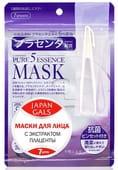 """Japan Gals """"Pure 5 Essential"""" Маска с плацентой, 7 шт. в упаковке."""