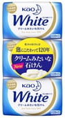 KAO «White» Увлажняющее крем-мыло для тела, на основе кокосового молока, с ароматом белых цветов, 3 шт. х 130 гр.