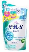 KAO «Biore U - Green Citrus» Освежающий гель для душа с ароматом зелени и цитруса, с дезодорирующей пудрой, 380 мл, сменная упаковка.