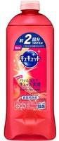 KAO «KyuKyutto» Средство для мытья посуды, овощей и фруктов, с ароматом розового грейпфрута, 385 мл, сменная упаковка.