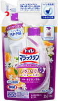 KAO «Toilet Magic Clean deodorant and cleaning spray Jasmine & Orange» Очищающий спрей-пенка с дезодорирующим эффектом для туалета, с ароматом жасмина и апельсина, 350 мл, сменная упаковка.
