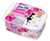 KAO «Quick Le Toilet» Дезодорирующие салфетки для уборки туалета, с ароматом роз, плотные, растворимые в воде, 31х24,5 см, коробка, 10 шт.