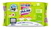 KAO «Quick Le» Влажные салфетки для дома, с дезинфицирующим эффектом, с тонким ароматом зеленого чая, 20 шт., 20,5х28,5 см, мягкая упаковка.