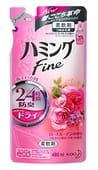 KAO «Hamming Fine Rose Garden» Кондиционер для белья с защитой от возникновения неприятного запаха, с ароматом розового сада, 480 мл, сменная упаковка.