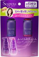 KAO «SEGRETTA Volume Aromatic Floral shampoo + conditioner (mini set)» Набор: шампунь, 60 мл + кондиционер, 60 мл, для увеличения прикорневого объёма волос, с экстрактом граната и маточным молочком.