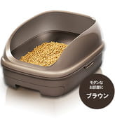 KAO «Toilet set open type, Brown» Открытый биотуалет для кошек, коричневый + подстилка 1 комплект + наполнитель 2,5 л.