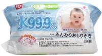 iPLUS Детские влажные салфетки с гиалуроновой кислотой, со степенью очистки 99,9%, мягкие (пушистые), 80 шт.
