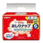 PIGEON Детские влажные гигиенические салфетки с косметическим молочком, запасной блок, 64 шт.