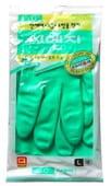 """MyungJin """"HYGIENIC GLOVE PVC"""" Перчатки из ПВХ с хлопковым напылением, размер L."""