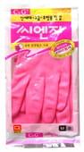 """MyungJin """"Hygienic Glove PVC"""" Перчатки из ПВХ с хлопковым напылением, размер M."""