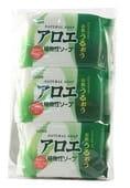 CLOVER Косметическое мыло с экстрактом алоэ, 3 шт. по 80 гр.
