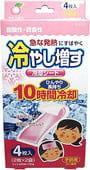 KAO Салфетки-пластыри охлаждающие гелевые при температуре и головной боли, с маслом персика, 4 шт.