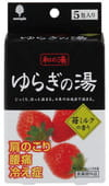 Kokubo Соль для ванны ароматизированная, с ароматом клубники со сливками, 5 шт. х 25 г.
