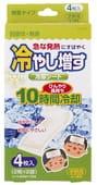 KOKUBO Салфетки-пластыри охлаждающие гелевые при температуре и головной боли, без запаха, 4 шт.