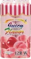 IDESHIGYO Туалетная бумага двухслойная, аромат персика и нектарина, розовая, 30 м, 12 рулонов.