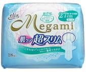 Daio paper Japan «Elis-Megami Super» Женские дневные гигиенические прокладки, с крылышками, 18 шт.