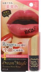 "KOJI HONPO ""Dream Magic Premium Moist Rouge"" Увлажняющая губная помада - 02 - Насыщенный розовый."