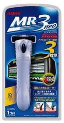 Feather «MR3 Neo» - Мужской бритвенный станок с тройным лезвием с хромированной ручкой.